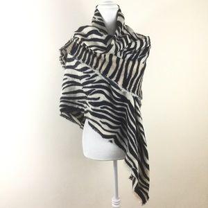 Zara Oversized Scarf Shawl Zebra Print